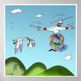 Drone Cartoon 9482 Poster