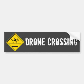 drone crossing hexacopter bumper sticker
