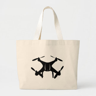 Drone Flying Large Tote Bag