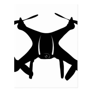Drone Flying Postcard
