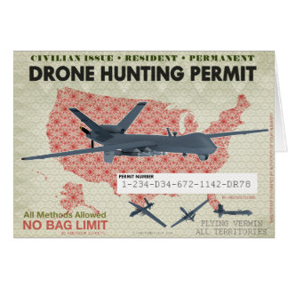 Drone Hunting Permit Card