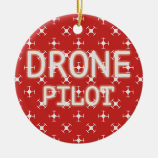 Drone pilot ceramic ornament