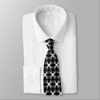 Drone pilot neck tie | Black and white