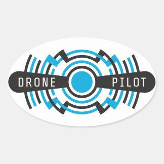 drone pilot oval sticker
