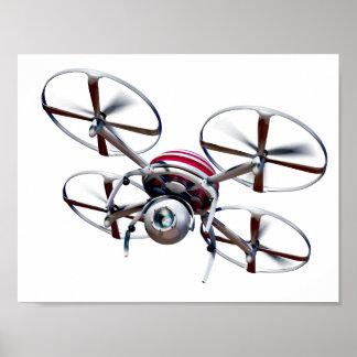 Drone quadrocopter poster