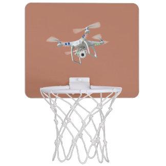 Drone white mini basketball hoop