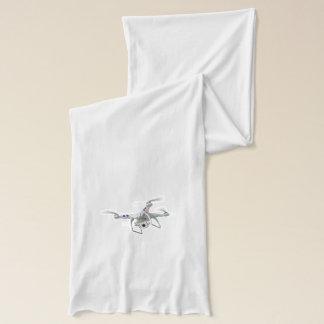 Drone white scarf