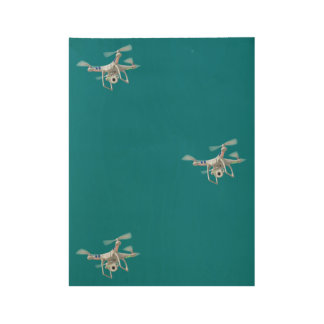 Drone white wood poster