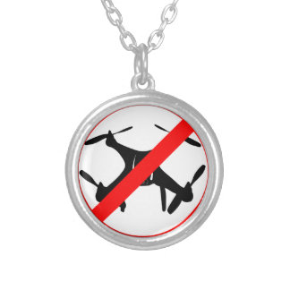 Drones not Allowed Silver Plated Necklace