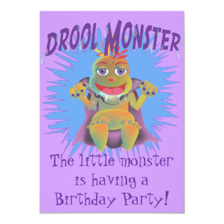 Drool Monster Birthday Party Invitation