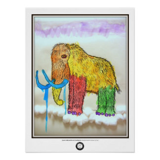 Drooly Mammoth Poster