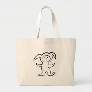 Droopy Ear Bunny Jammie Kid Jumbo Tote Bag