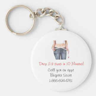Drop 2-3 sizes in 10 Minutes keychain