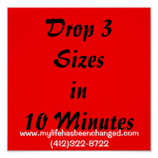 Drop 3 Sizesin 10 Minutes, www.mylifehasbeencha... Poster