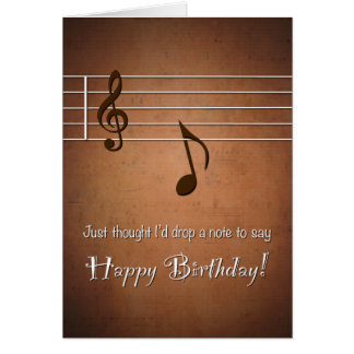 Drop a Punny Note to Say Happy Birthday Card