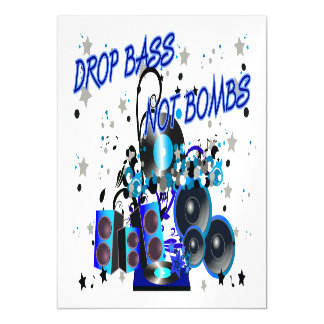 Drop Bass Not Bombs Music vs Violence Magnetic Invitations