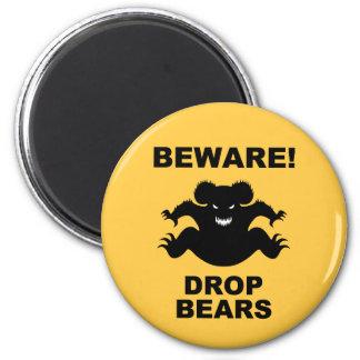 Drop Bears! 6 Cm Round Magnet