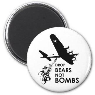 Drop Bears not Bombs Fridge Magnet