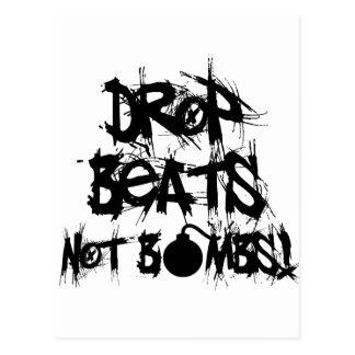 Drop Beats Not Bombs Postcard