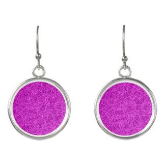 Drop Earrings Purple Network