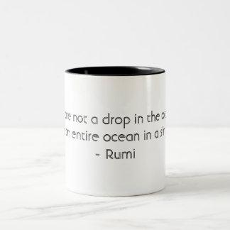 Drop  In the Ocean  Black 11 oz Two-Tone Mug