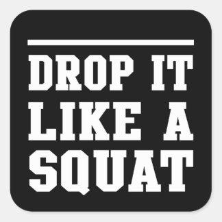 Drop it Like a Squat Square Sticker