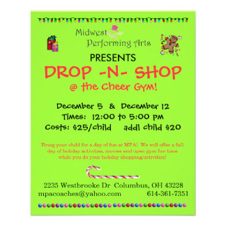 drop n shop 11.5 cm x 14 cm flyer