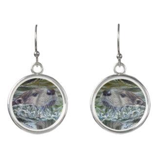 Drop Otter Earrings