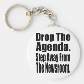 Drop the Agenda Basic Round Button Key Ring