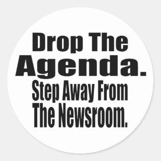 Drop the Agenda Round Sticker