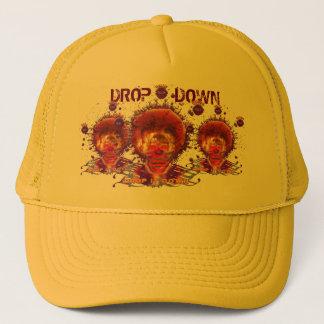 Drop top trucker hat