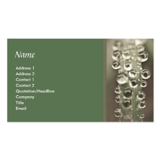 Droplets Double-Sided Standard Business Cards (Pack Of 100)