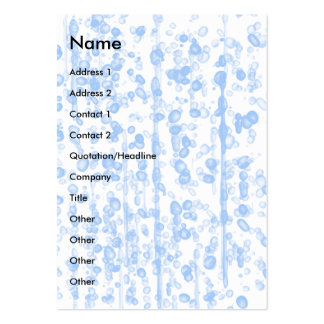 Droplets | pack of chubby business cards