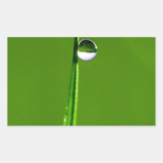 Droplets Rectangular Sticker