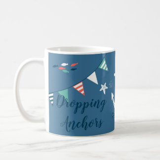 Dropping Anchors Nautical Adoption Gift Name-Date Coffee Mug