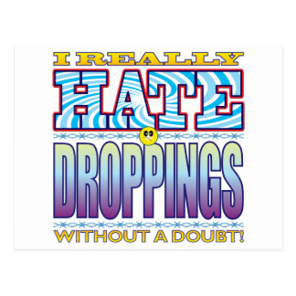Droppings Hate Face Postcard