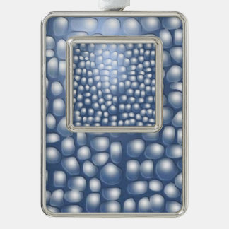 drops and droplets silver plated framed ornament