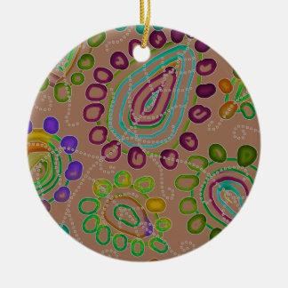 Drops Morphed 2 Ceramic Ornament