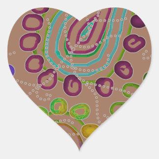 Drops Morphed 2 Heart Sticker
