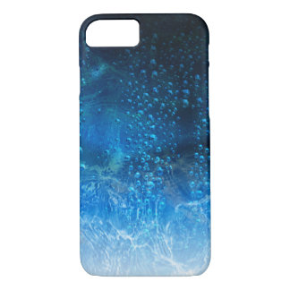 Drops Of Water On A Blue Abstract Background iPhone 7 Case