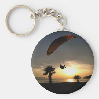 Dropzone At Dusk Basic Round Button Key Ring