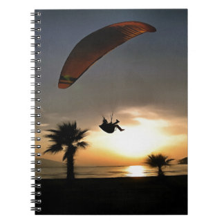 Dropzone At Dusk Spiral Notebook