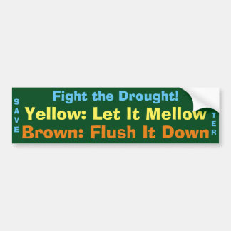 Drought Bumper Sticker