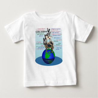 Drowning earth, sea level rise,global warming baby T-Shirt