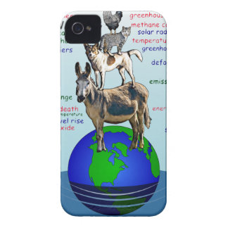 Drowning earth, sea level rise,global warming iPhone 4 Case-Mate case