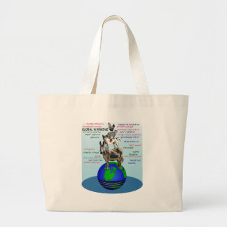 Drowning earth, sea level rise,global warming large tote bag