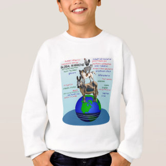 Drowning earth, sea level rise,global warming sweatshirt