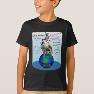Drowning earth, sea level rise,global warming T-Shirt
