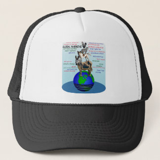 Drowning earth, sea level rise,global warming trucker hat