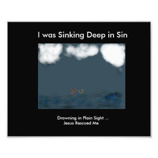 Drowning in Plain Sight Photographic Print